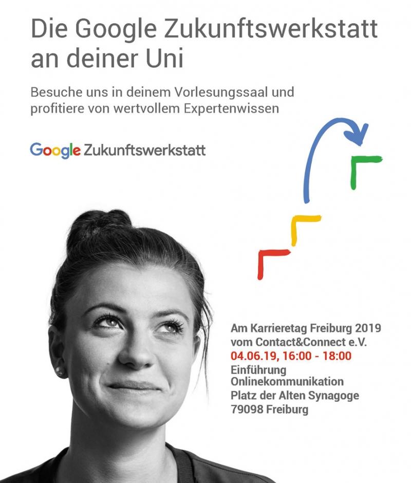 Das Rahmenprogramm vom Karrieretag Freiburg 2019 mit einem Vortrag der Google Zukunftswerkstatt - alle wichtigen Informationen